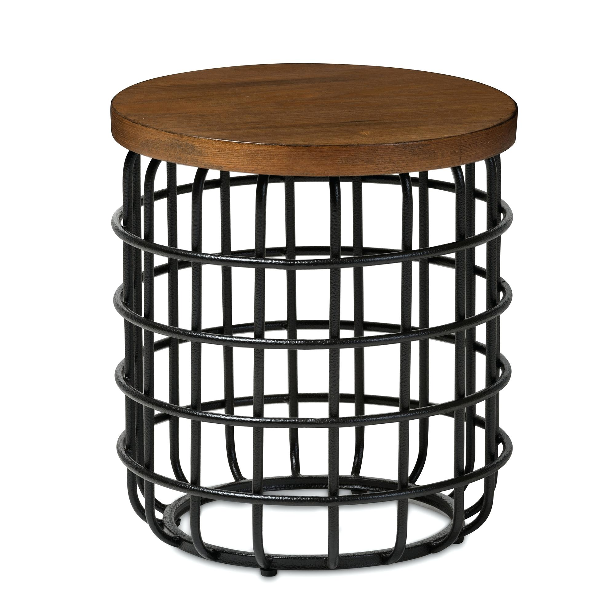 avani mango table sbud wood accent studio rustic industrial style antique black textured finished metal distressed tables drum wooden next living room furniture candle