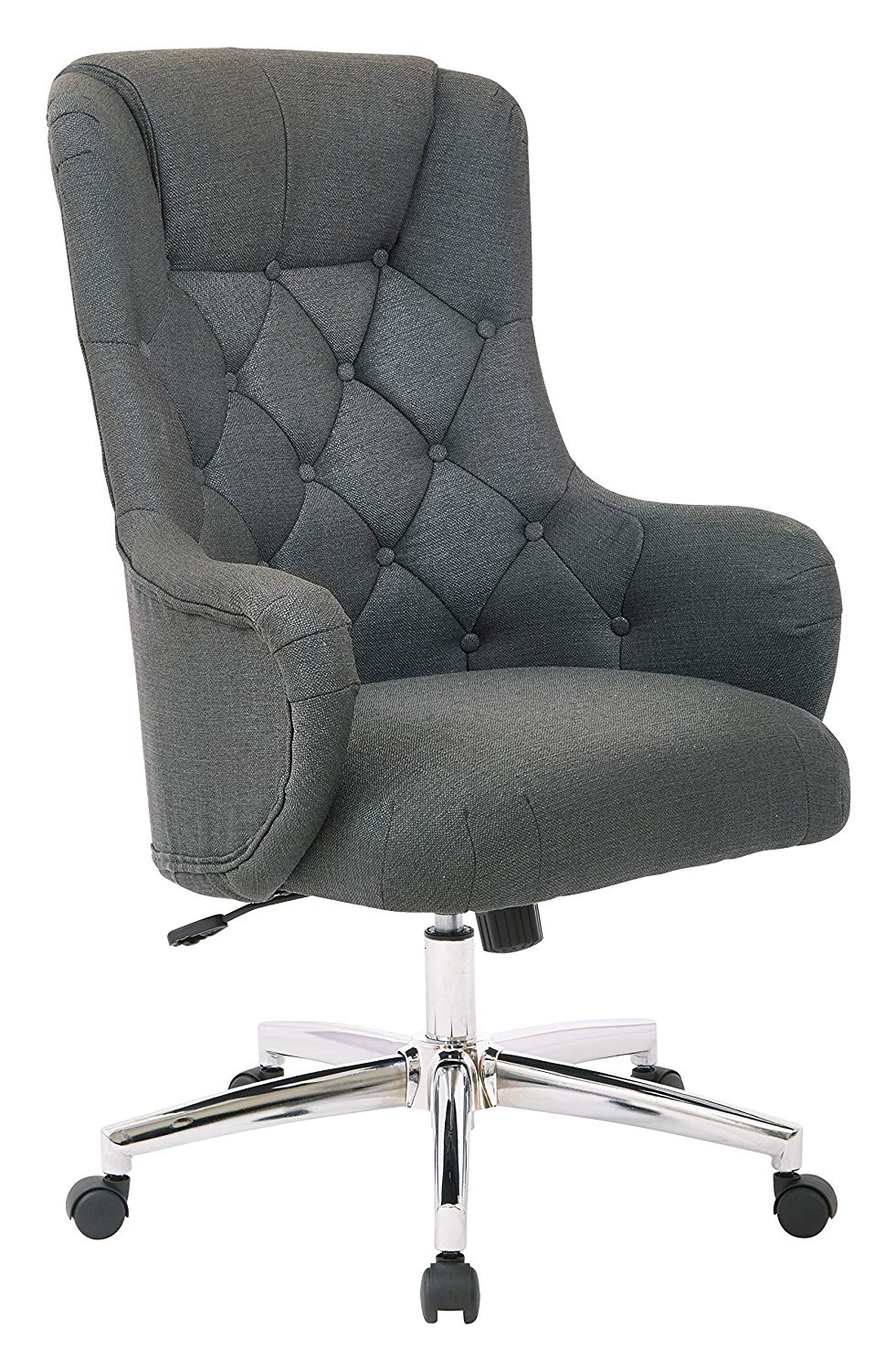 ave six ariel tufted high back desk chair with avenue piece and accent table set wraparound arms chrome base klein azure kitchen dining bath linen sauder corner pottery barn