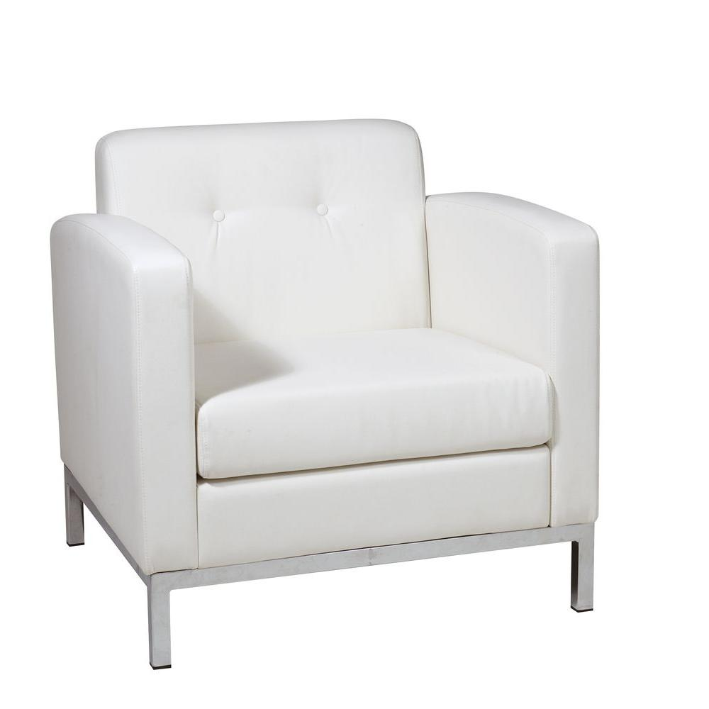 ave six wall street white faux leather arm chair the accent chairs piece fabric and table set pottery barn frog drum modern armchair next chesterfield sofa kitchen dining room