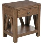 aveley brown accent table tables dark wood product top legs short furniture target entry patio umbrella side lamp dining room decor round counter height set tall skinny nightstand 150x150