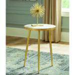 avenue furniture gold finish round top accent table coaster wire side square cloth tablecloths metal tray coffee ashley desk counter lamp wicker garden industrial look end tables 150x150