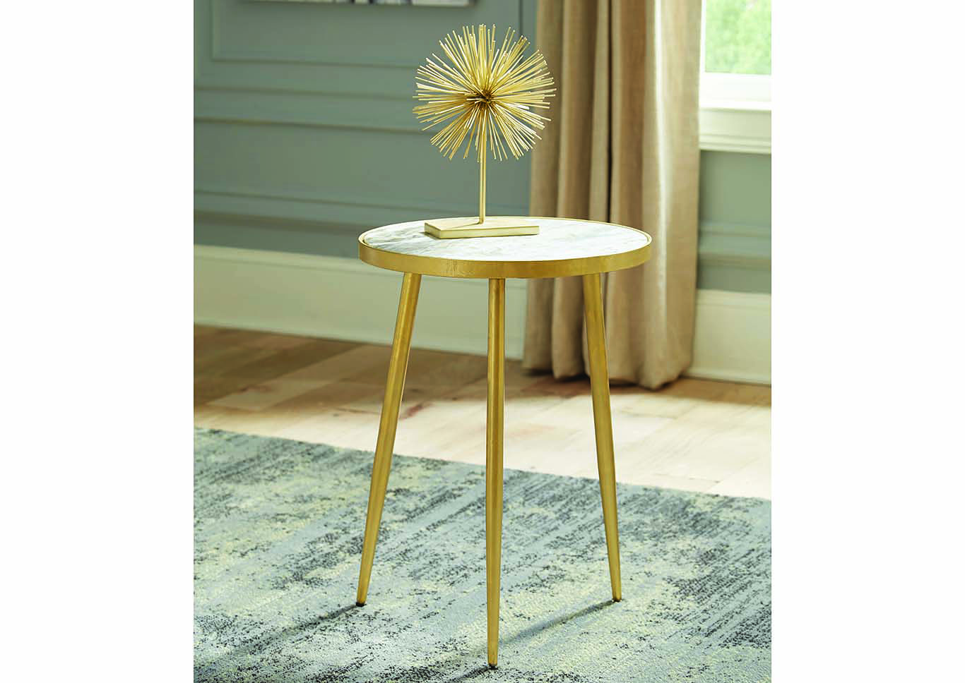 avenue furniture gold finish round top accent table coaster wire side square cloth tablecloths metal tray coffee ashley desk counter lamp wicker garden industrial look end tables