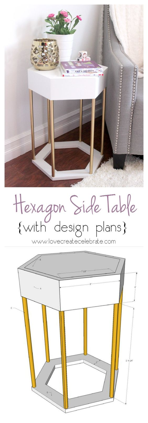awesome diy side table ideas for outdoors and indoors hative tutorials accent plans modern hexagon commercial black lamp shades sliding barn doors made coffee sofa small living