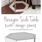 awesome diy side table ideas for outdoors and indoors hative tutorials outdoor accent modern hexagon cloth small black metal garden pearl drum stool walnut extension mini end with 150x150
