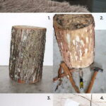 awesome diy side table ideas for outdoors and indoors hative tutorials wire basket accent studded tree stump patio seating counter height dining with bench mirrored console metal 150x150