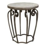 awesome iron accent table with round end rustic gorgeous uttermost anina hammered metal french console large square white coffee cherry wood tables vintage dining cool bar cooler 150x150