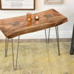awesome live edge accent table for natural elm entry attractive reclaimed slab end woodwaves wood narrow mirrored console jcpenney curtains ethan allen black half moon small 150x150