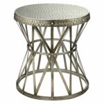 awesome metal drum accent table gold hammered coast round end tables red decor ikea plastic storage boxes with wheels coffee formal dining chairs uttermost fruit cocktail drink 150x150
