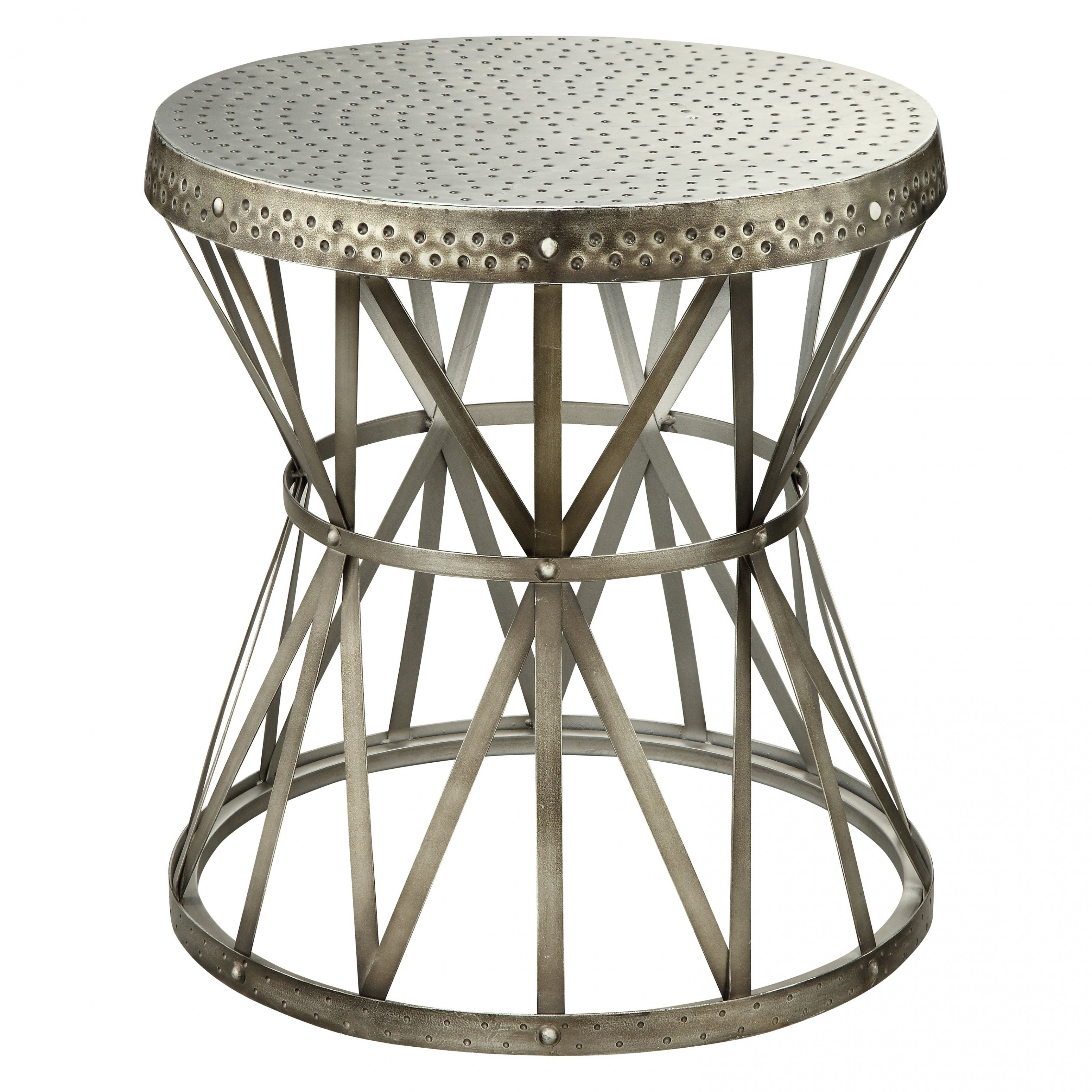 awesome metal drum accent table gold hammered coast round end tables red decor ikea plastic storage boxes with wheels coffee formal dining chairs uttermost fruit cocktail drink