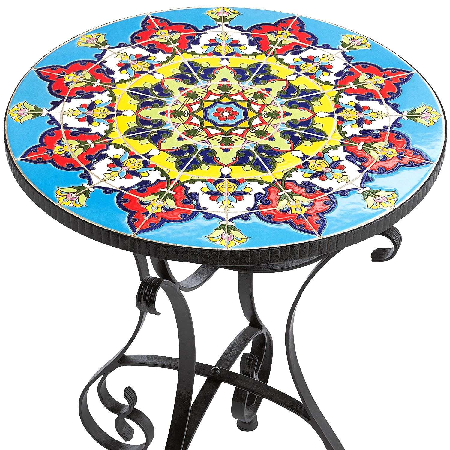 awesome mosaic patio side table from emilio accent threshold argos tables home goods furniture large round mirror unfinished end outdoor closet drink tiffany stained glass