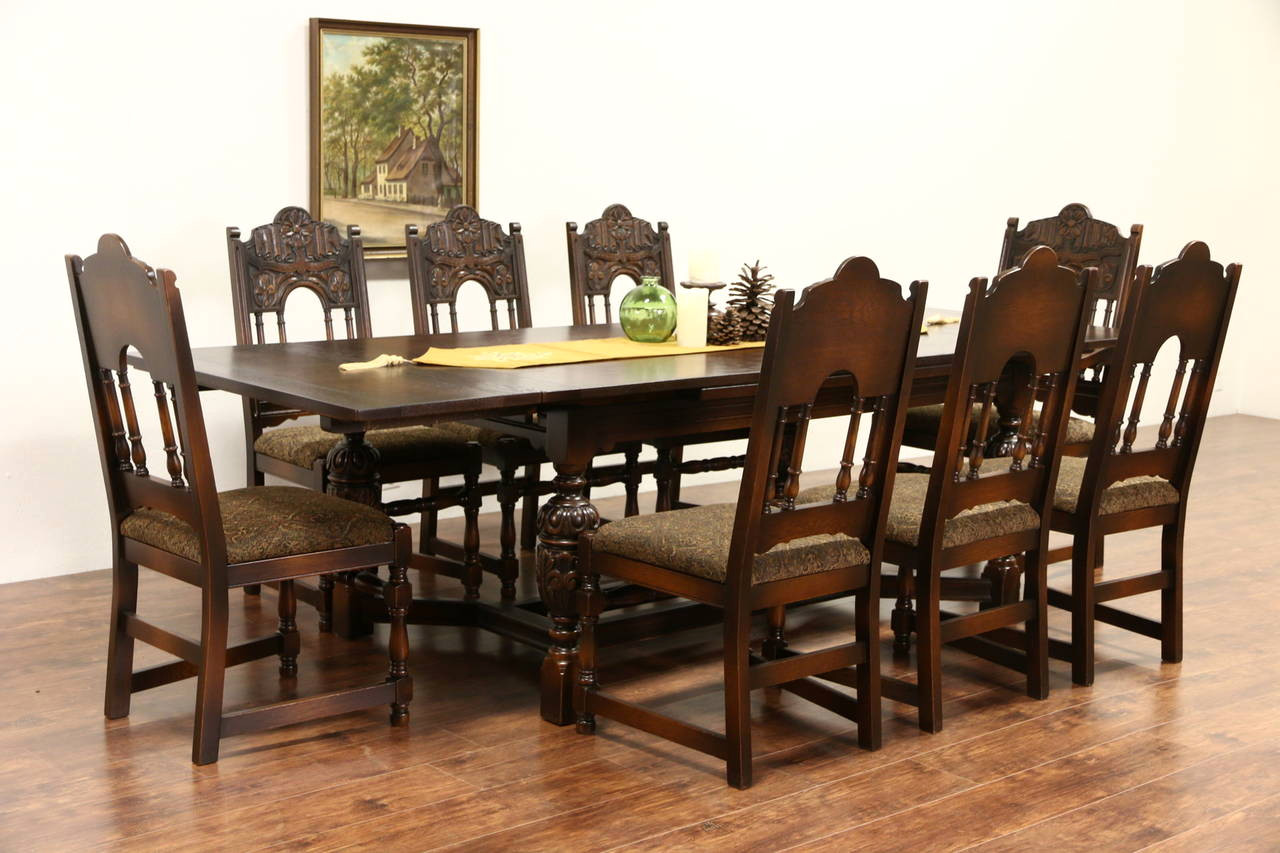 awesome off vintage dining table set with gold accent tables cool english tudor carved oak antique amp chairs extra long runners blue glass lamp leather bean bag living room ideas