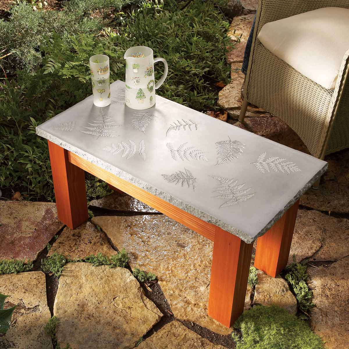 awesome plans for diy patio furniture the family handyman outdoor end table covers polished concrete top moroccan easter linens wrought iron with marble rose gold accent argos
