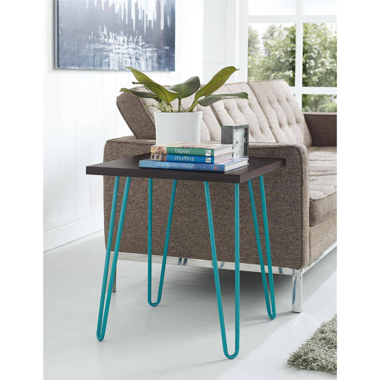 awesome teal metal end table sign depot frame for glass adjustable indoor folding lamp tree base granite tire contemporary diy bunnings round toppers mosaic tabletop legs top and