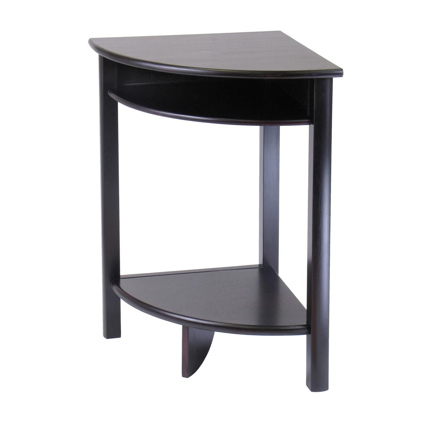 awsemone mini corner accent table for dining room with curve leick design adjustable height pottery barn sofa lucite furniture home goods chairs skinny wine rack hampton bay