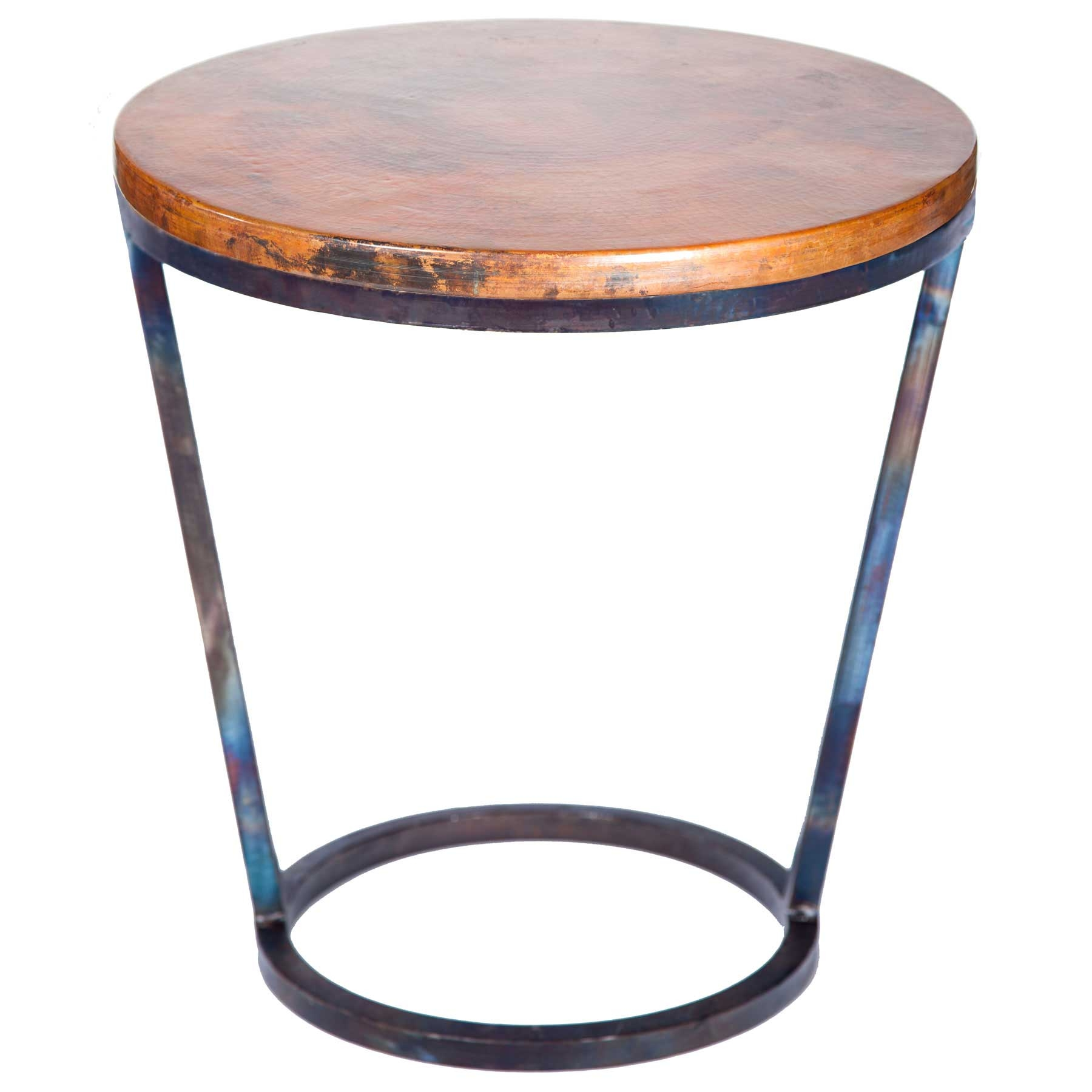ayres iron accent table with hammered copper top twi metal wrought base and larger tall outdoor side wood end plans crate pier diy sliding door chippendale chairs black wine rack