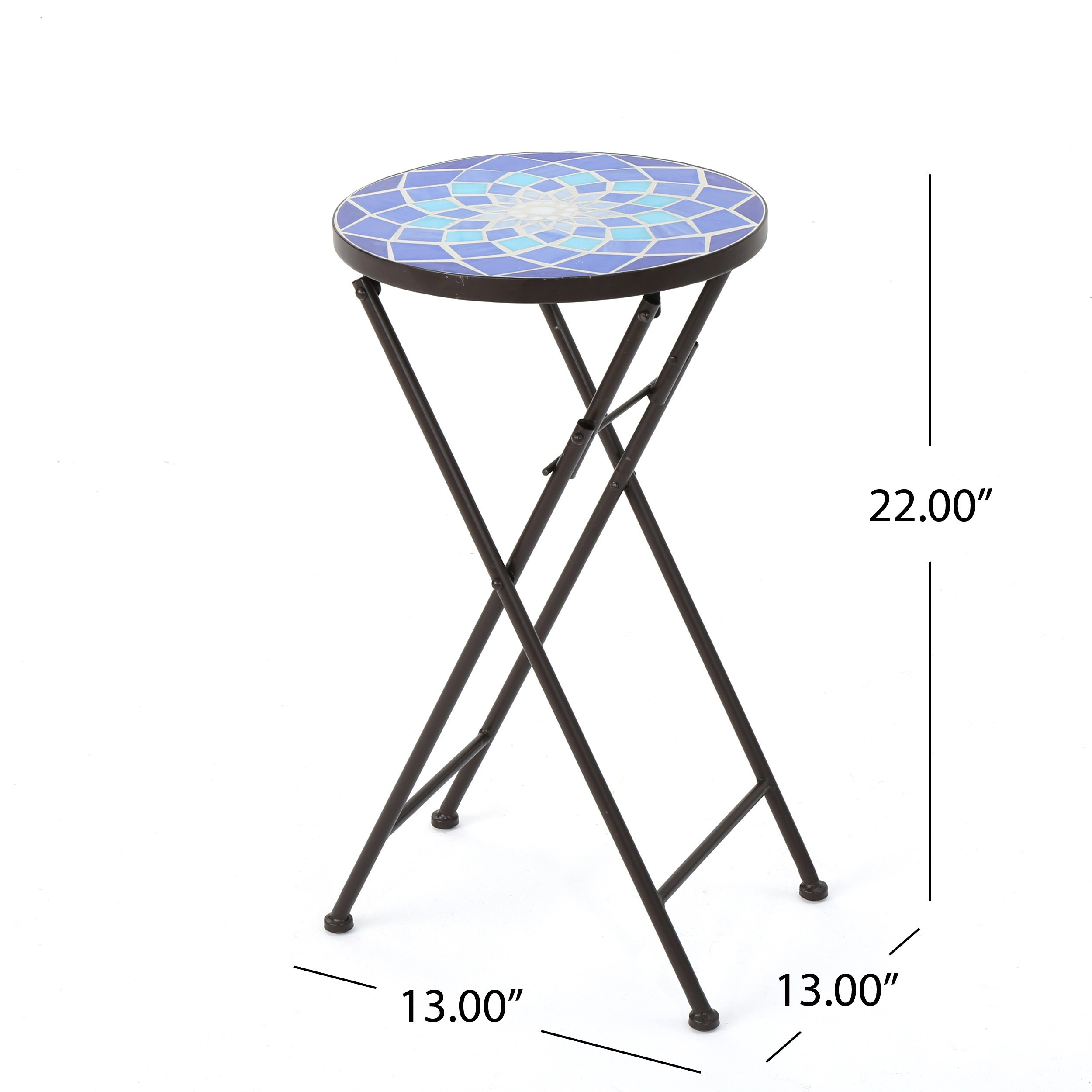azure outdoor round tile side table planter christopher knight home mosaic stone accent free shipping orders over steel hairpin legs antique brass bar stools bunnings decorative
