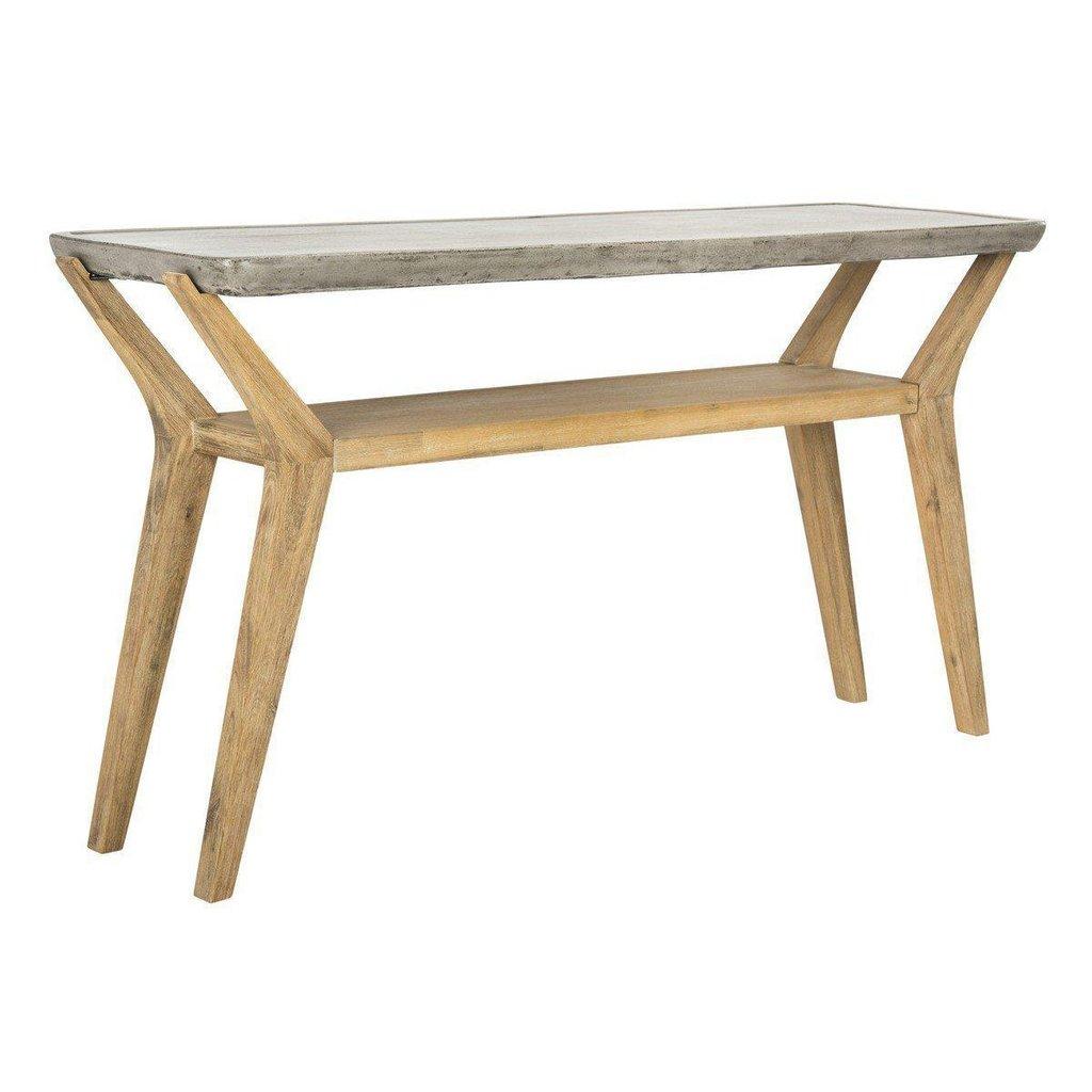 babette modern concrete console indoor outdoor accent table indooroutdoor side tables pier one bar stools dark wood adjustable height black wrought iron bedroom design bunnings