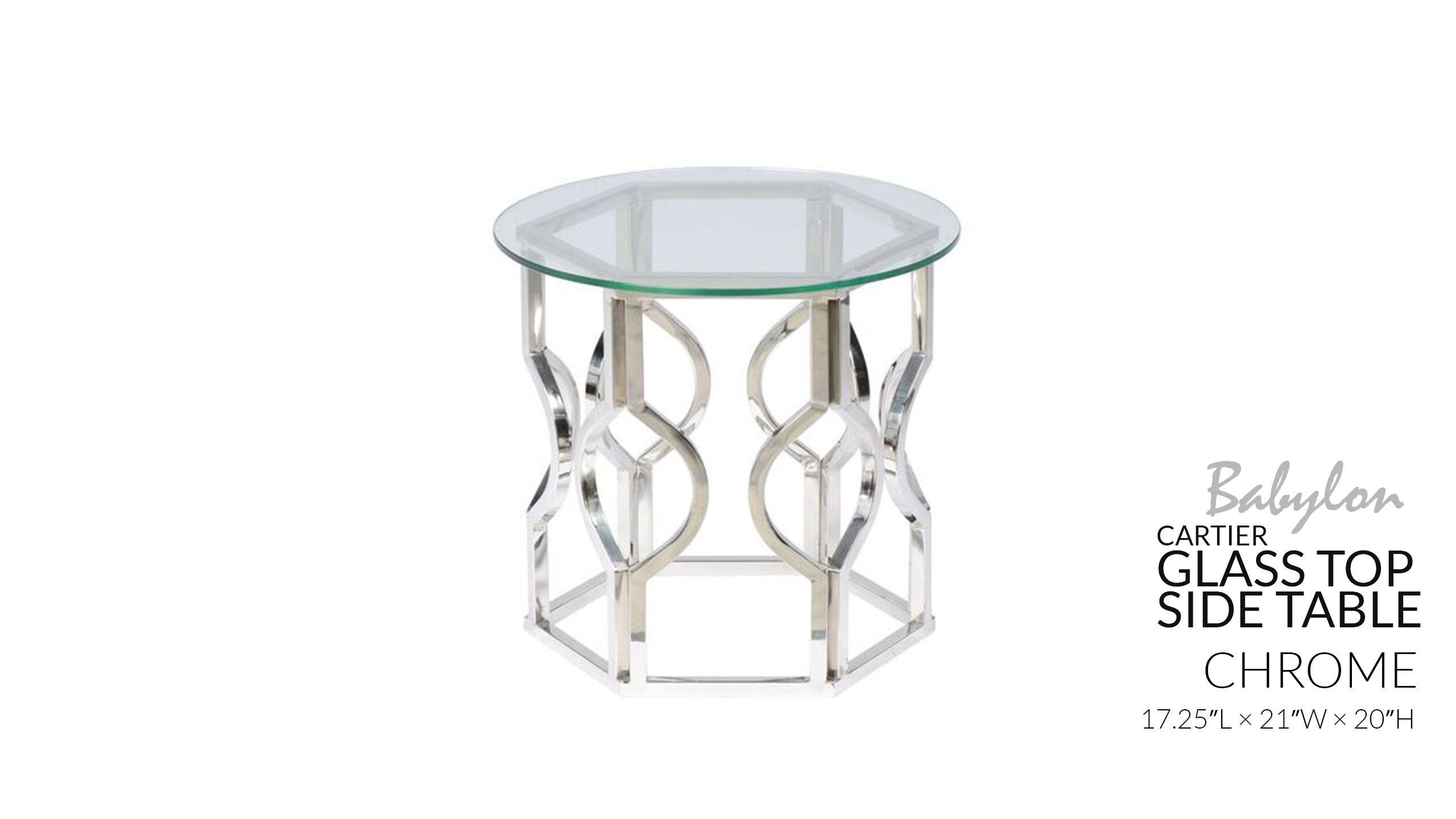 babylon decor accent table collection toronto wedding cartier side chrome tables white and gold junior drum seat three coffee outdoor metal round chairs glass with wooden legs