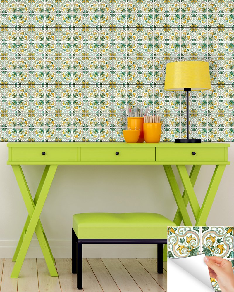 backsplash peel and stick tile stickers set keru accent table authentic decals bathroom kitchen vinyl wall easy apply just brass nest tables retro style couch dark blue nightstand