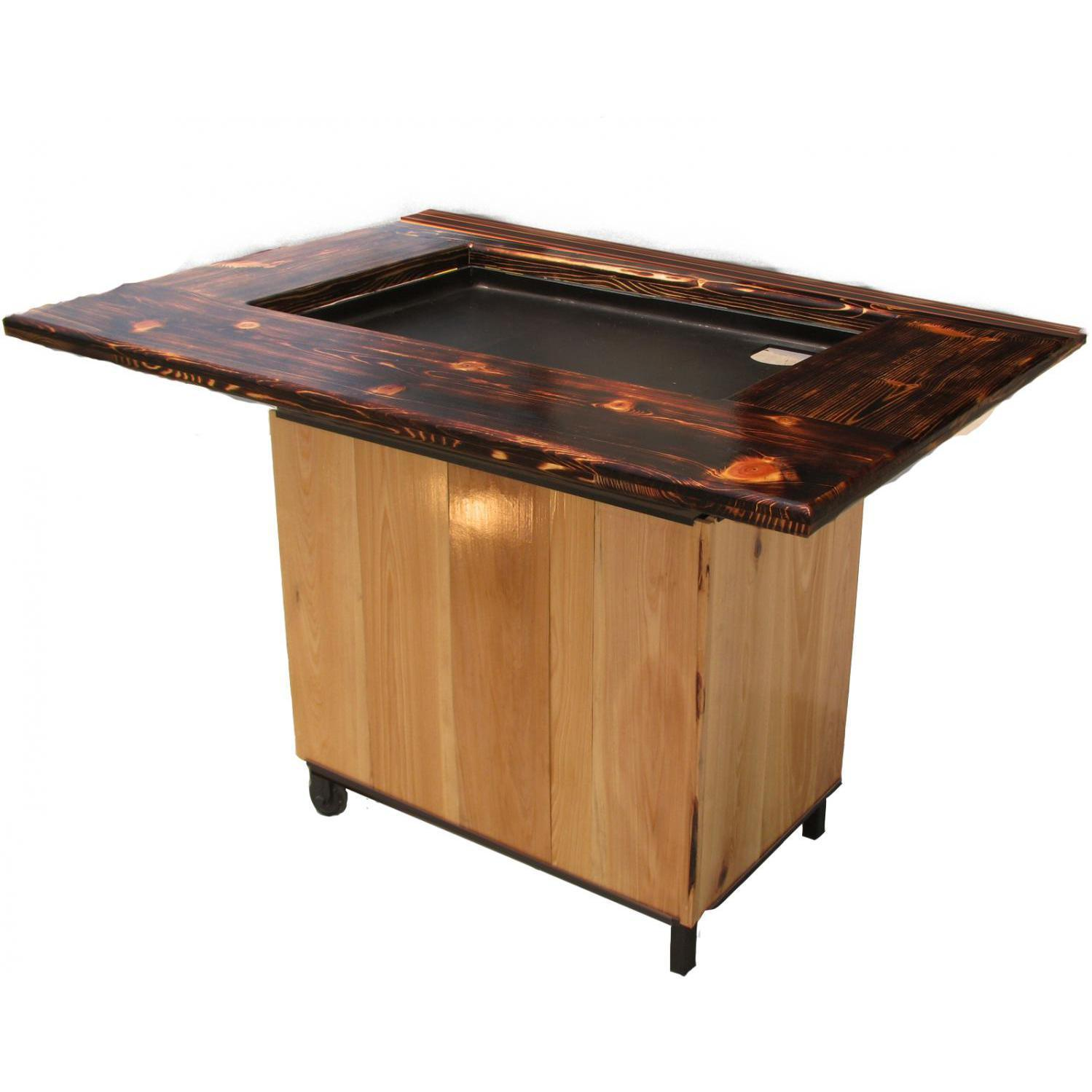 backyard hibachi flattop propane gas grill torched cypress bbq guys side table outdoor patio furniture collections small accent chairs glass desk coffee and end tables wood