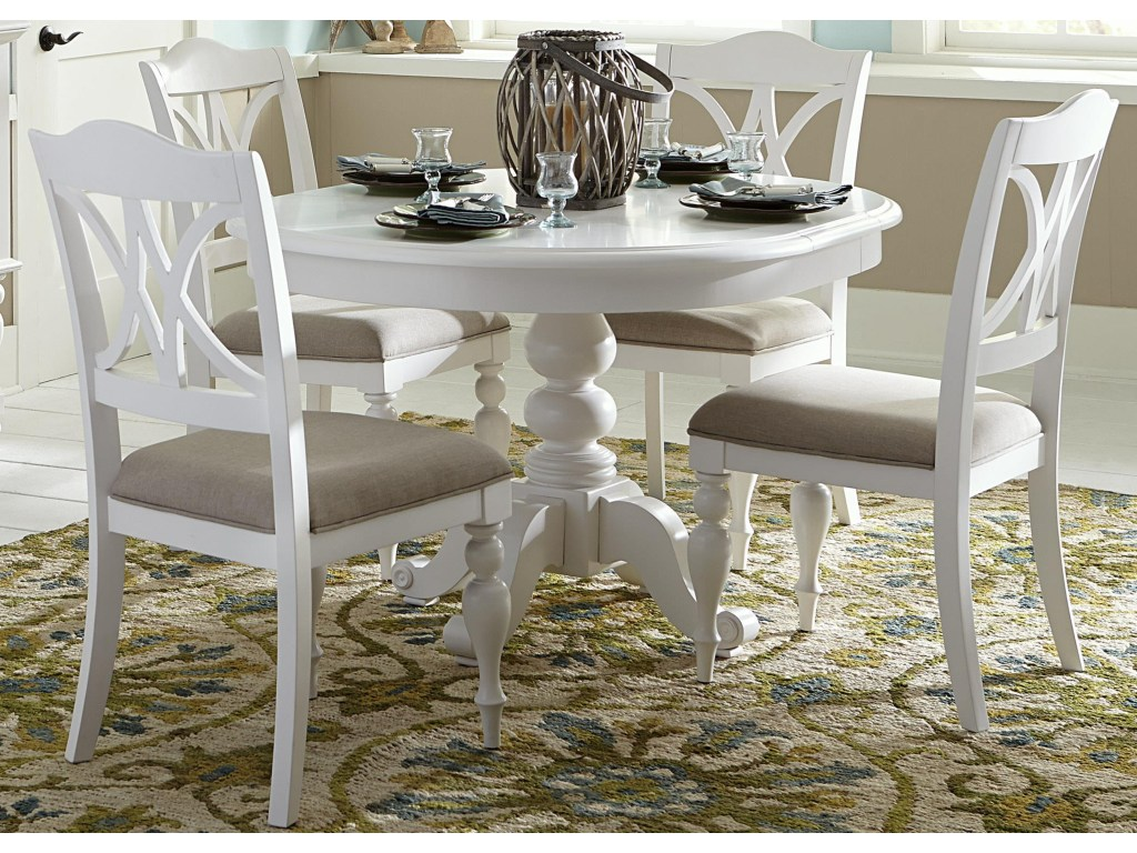 bailey piece round table set with turned legs rotmans dining products liberty furniture color summer house leg accent threshold victorian style end tables room for small spaces