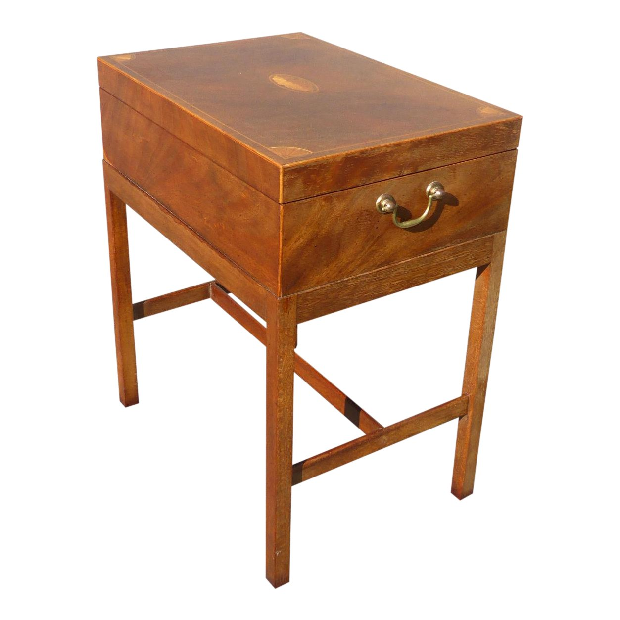 baker furniture company burl wood box accent table chairish small kitchen chairs marble top pub set nautical side wooden legs and bases round outdoor tablecloth large drop leaf