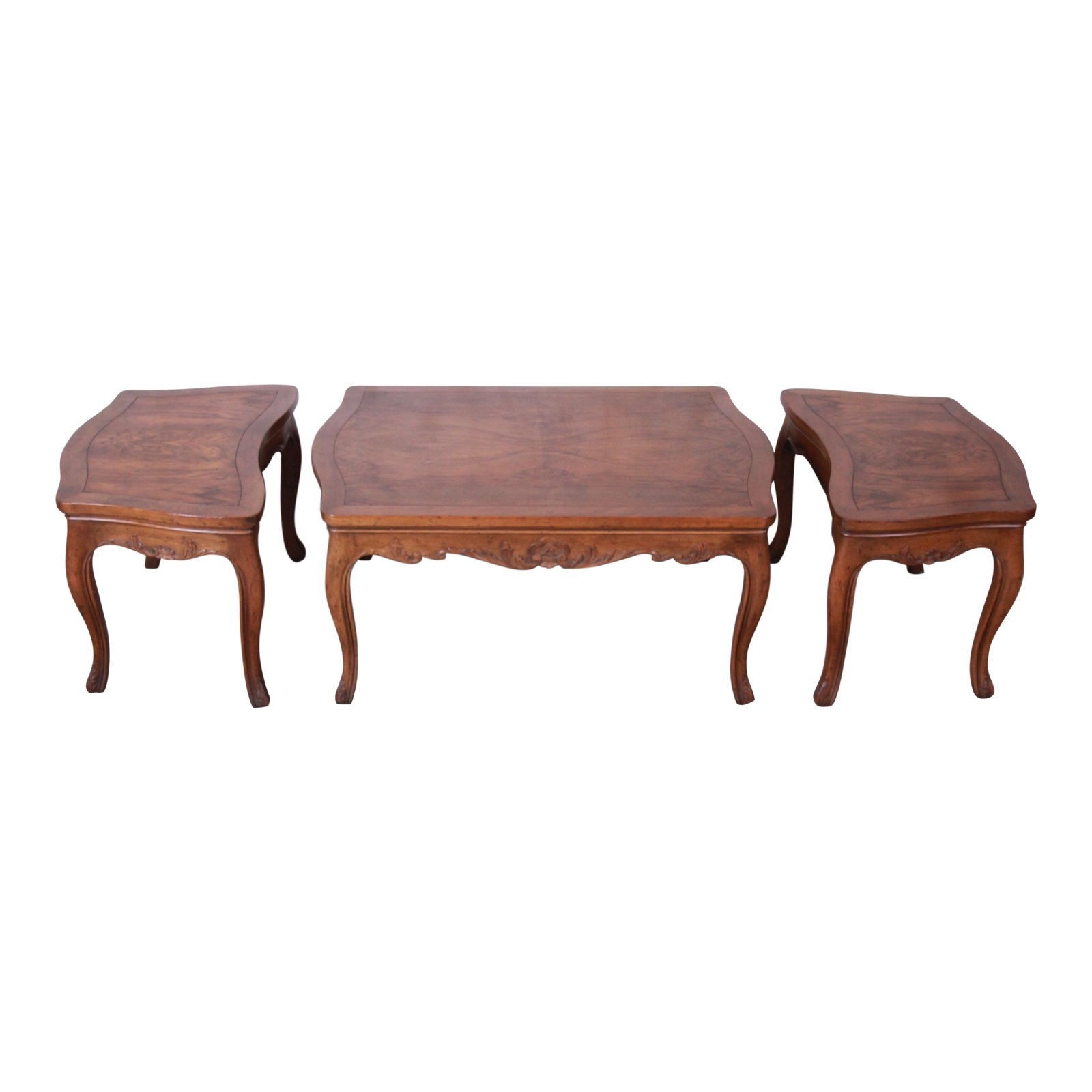 baker furniture french carved burl wood coffee table and end tables piece set accent small entryway round mosaic outdoor glass sets white crystal lamp yellow oval tablecloth leg