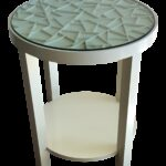 baker furniture round off white with glass top accent table chairish wall decor black and dining acrylic entry deck umbrella garden marble designs transitional chrome side under 150x150