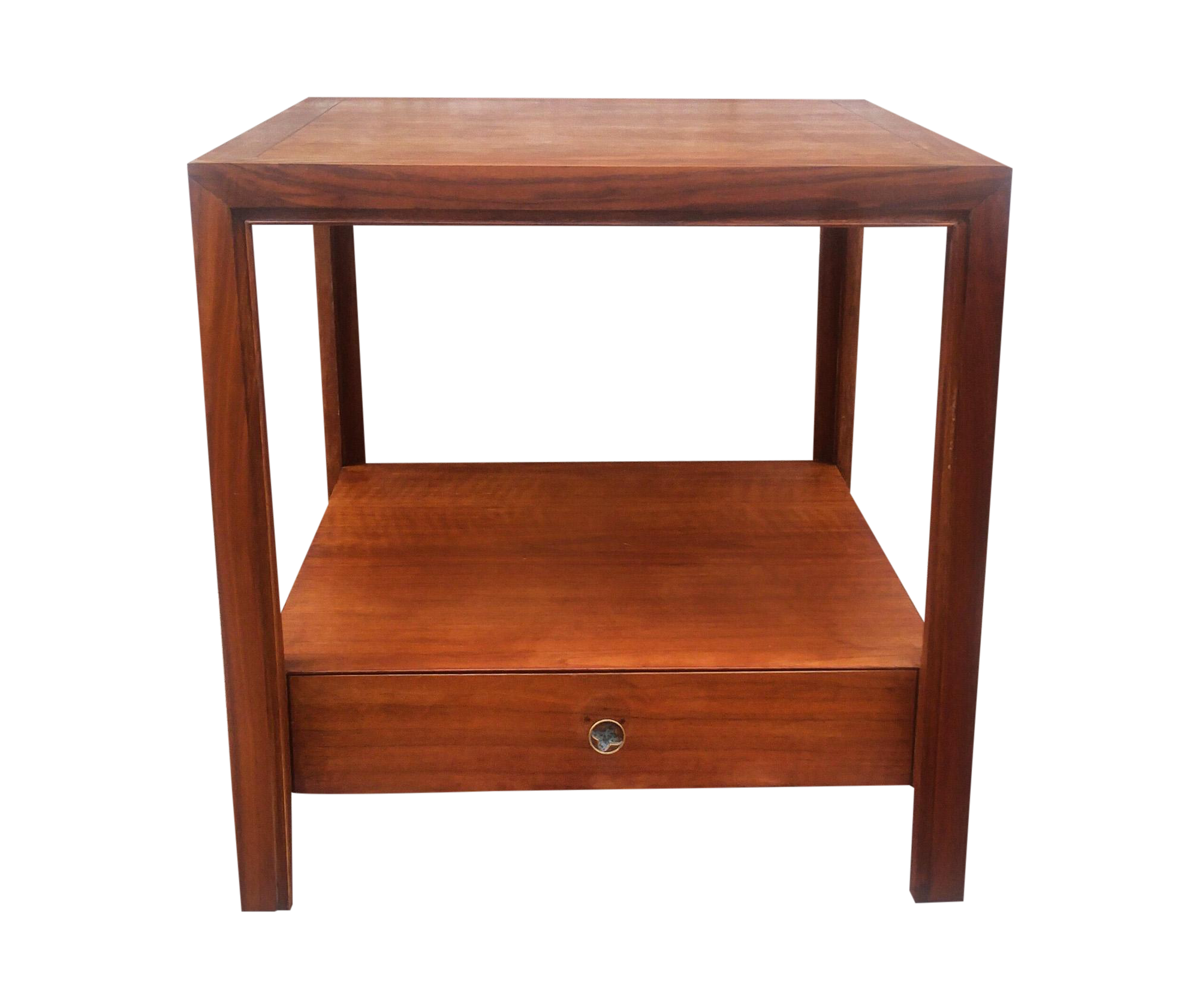 baker furniture vintage walnut end table chairish tables live edge wood shelves platform dark kitchen brown lamps diy redo teak dining accent marble top nesting french farmhouse