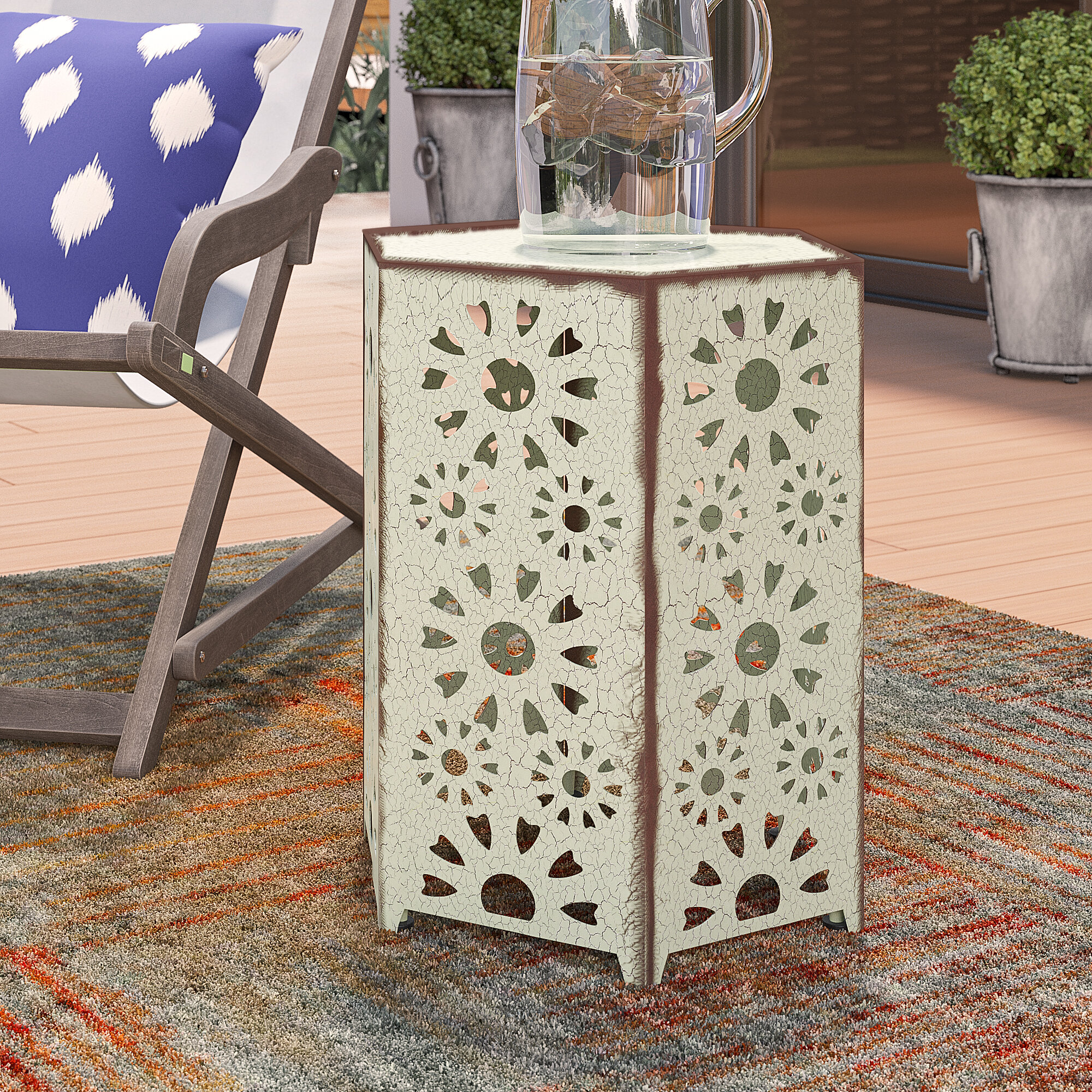 balentine outdoor iron end table reviews joss main ifrane accent white wood mirror round fitted tablecloths safavieh coffee stool carpet door trim wicker target marble style small