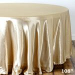 balsacircle inch champagne round satin tablecloth for accent table cover linens wedding party catering kitchen dining events home pier one chairs concrete top outdoor pub height 150x150