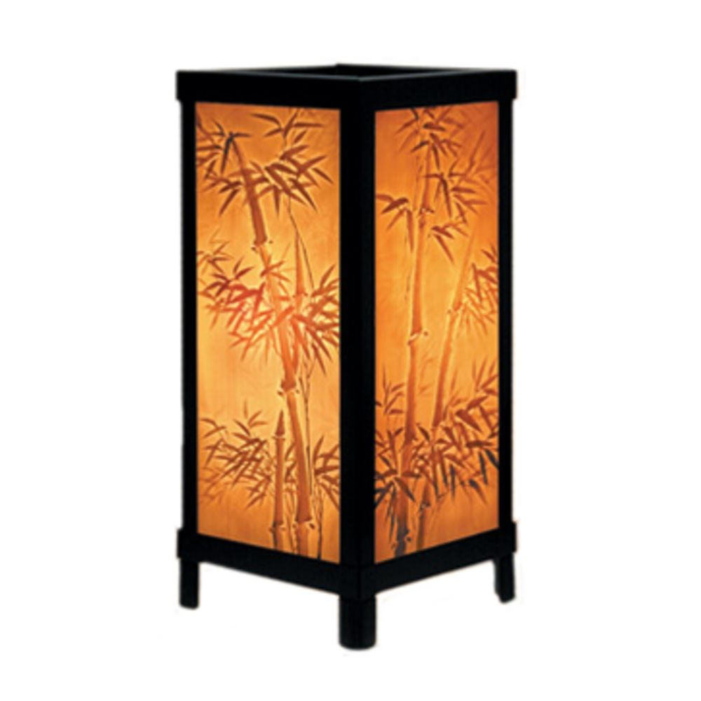 bamboo motif lithophane accent lamp destination lighting zoom table seattle porcelain garden uma enterprises lamps small round foyer matching coffee and end tables black pedestal