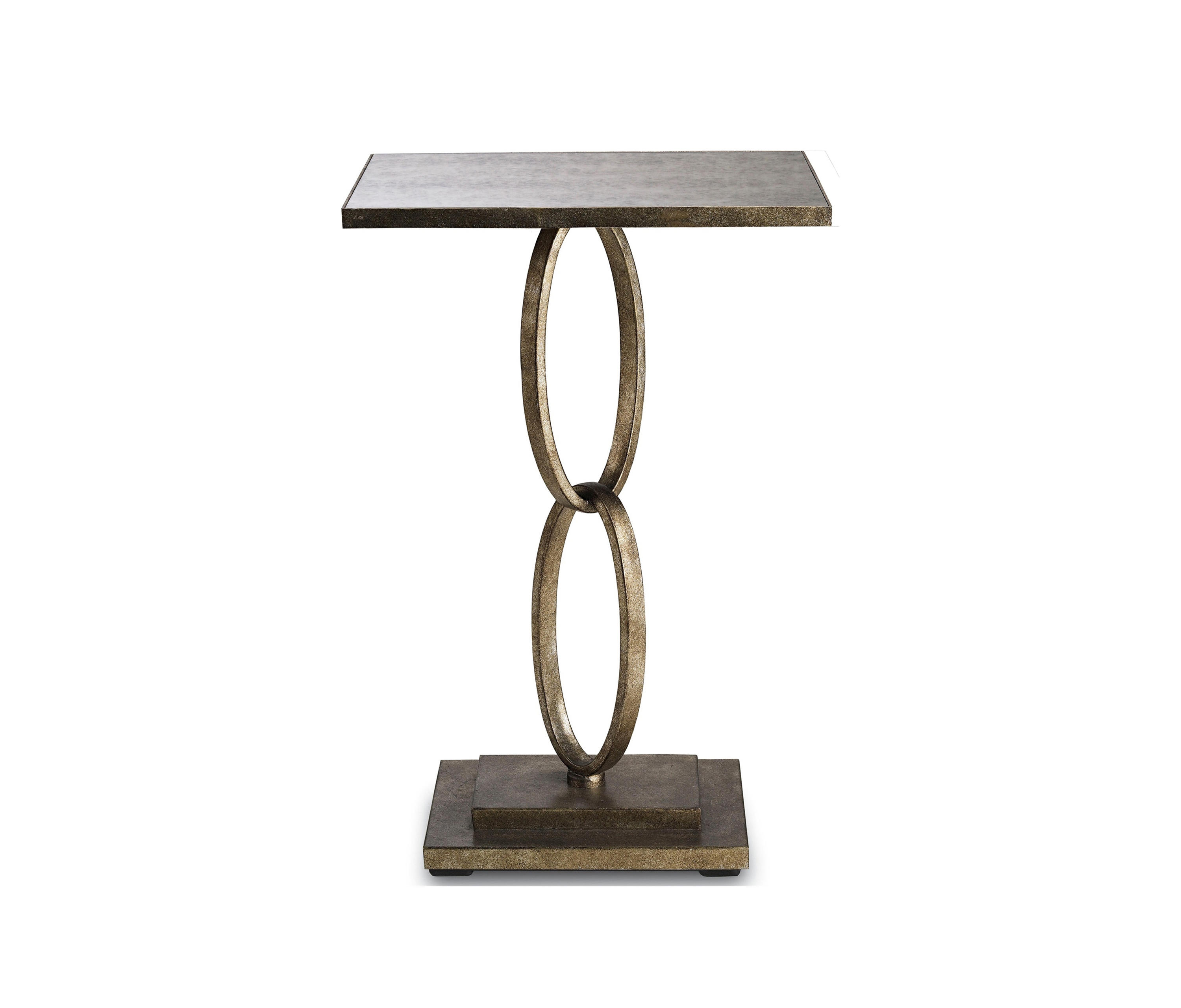 bangle accent table silver leaf side tables from currey company hayden furniture gold metal console plum tablecloth cylinder lamp ikea black cube storage iron pier buffet small