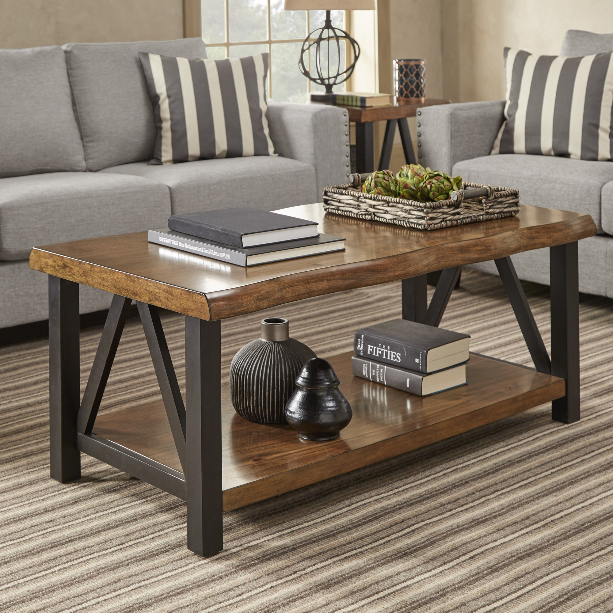 banyan live edge wood and metal accent tables inspire artisan table behind couch free shipping today inch wall clock lamps plus lynnwood deck furniture set nightstand beacon hill