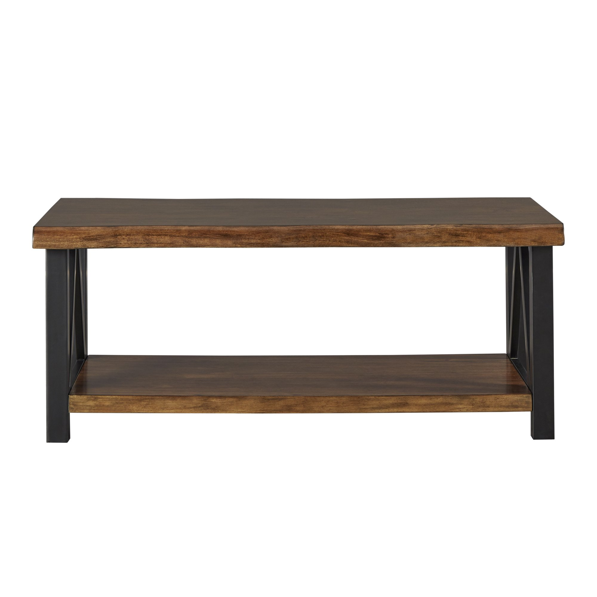 banyan live edge wood and metal accent tables inspire artisan table with shelf free shipping today distressed trestle pin legs low for living room corner chest cherry coffee set