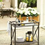 bar cart outdoor metal serving table trolley threshold grill station patio service small vintage side edwards furniture rustic coffee set wine and liquor cabinets accent chairs 150x150
