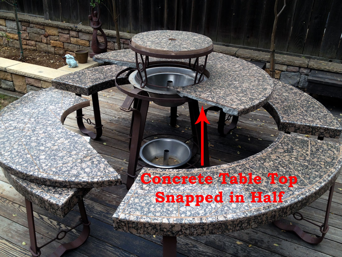 barbecue islands surrounding elements located orange county concrete top outdoor side table for bbq some companies use tops which are then covered tile over time will dry out