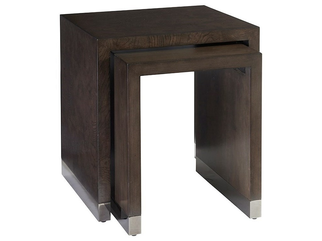 barclay butera brentwood deerbrook nesting tables with ash products color threshold parquet accent table brentwooddeerbrook skinny console storage turkish furniture half circle