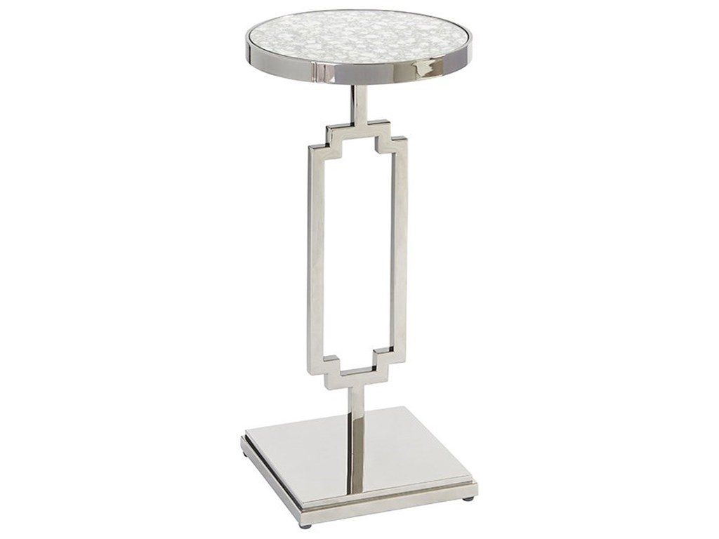 barclay butera brentwood stonehill metal accent table with antiqued products color glass top brentwoodstonehill west elm armoire console set french style small diy bar pottery