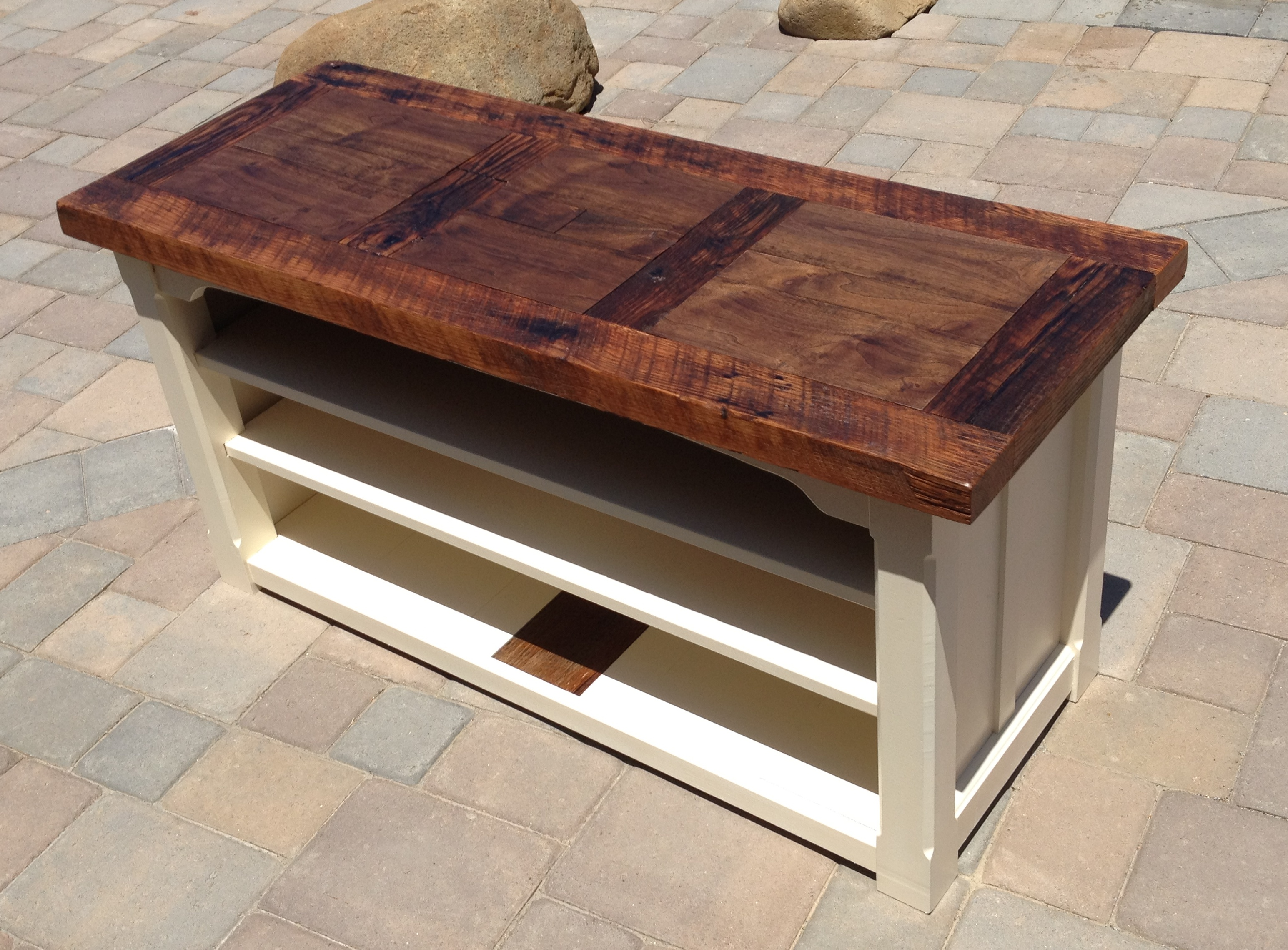 barnwood table the coastal craftsman reclaimed barn wood end tables chew proof dog coffee cover ashley furniture living room drawer flip top console ceramic accent metal with