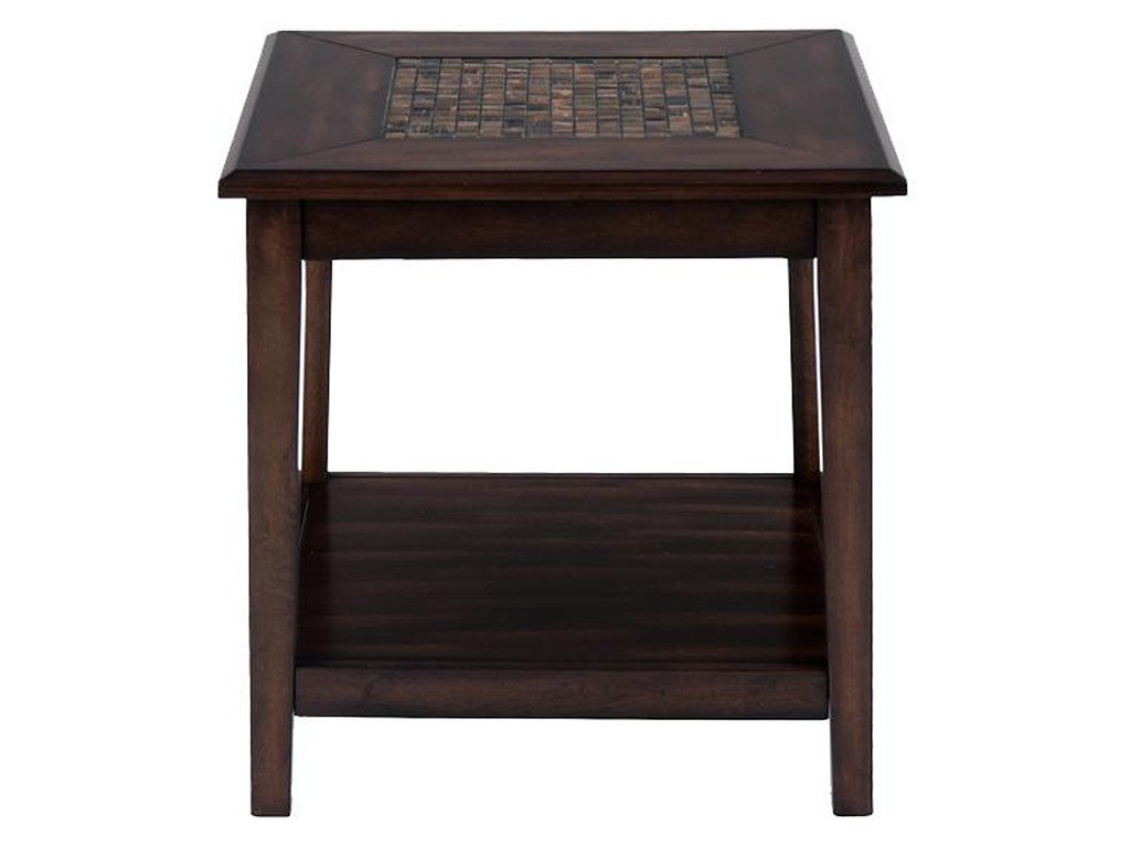 baroque brown dark mosaic inlay end table morris home products jofran color accent furnishings browncog hill high top small round antique with drawer large cloth farmhouse