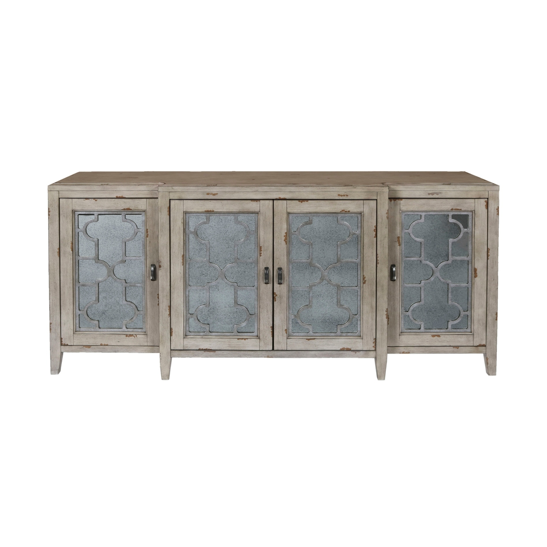 bartoli antique white door credenza free shipping today mirimyn round accent table sofa and loveseat set comfortable runner patterns cherry glass coffee wrought iron contemporary