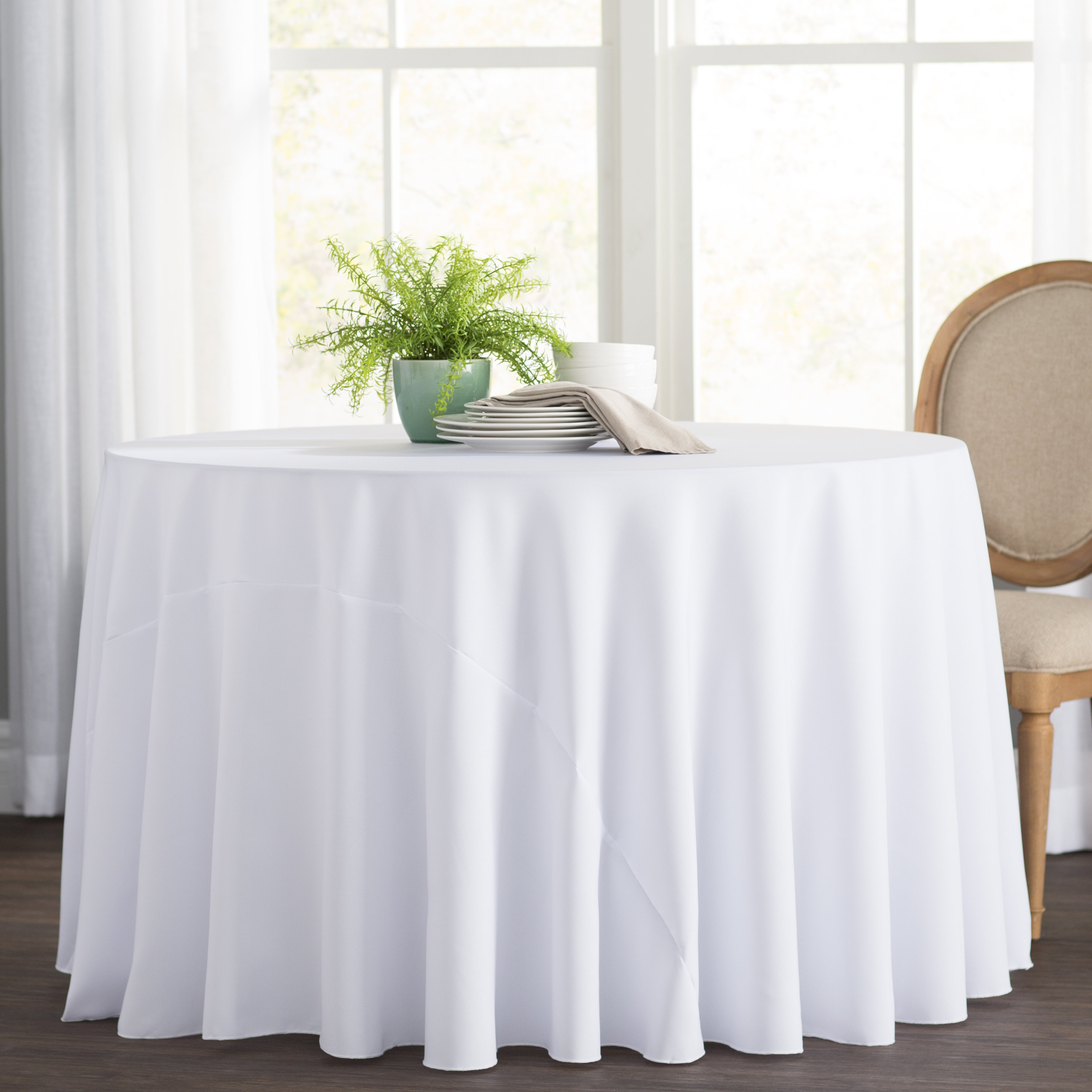 basics polyester round tablecloth reviews accent pier one imports table and chairs bedroom side drawers runner rugs hutch market patio umbrella small outdoor teak mosaic tile