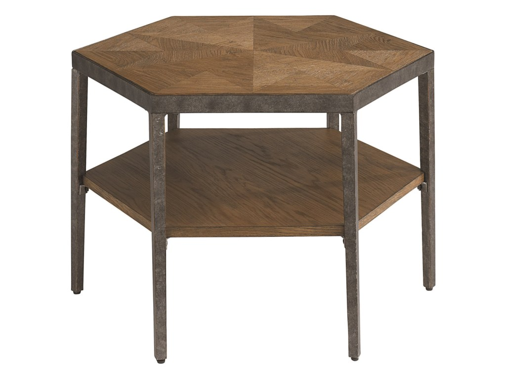 bassett bratton contemporary hexagon bunching cocktail table products color threshold accent brattonhexagon couch console nursery furniture metal coffee italian home decor hampton