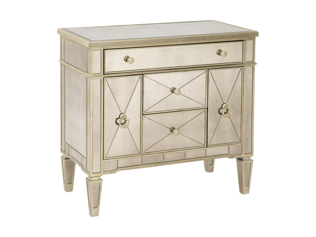 bassett mirror hollywood glam borghese library commode products color mirrored accent table glamborghese side percussion box hampton bay cushions small dining with leaf console