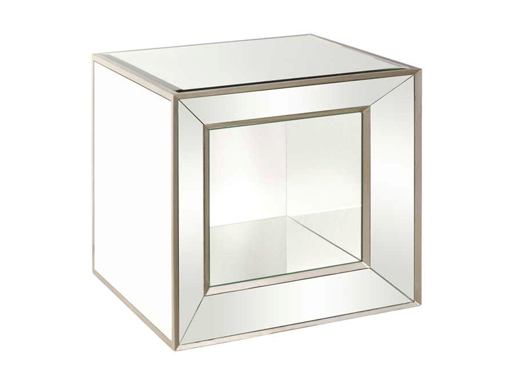 bassett mirror hollywood glam minetta mirrored cube corner products color accent table glamminetta yellow target black wicker patio furniture lamps with usb and west elm code slim