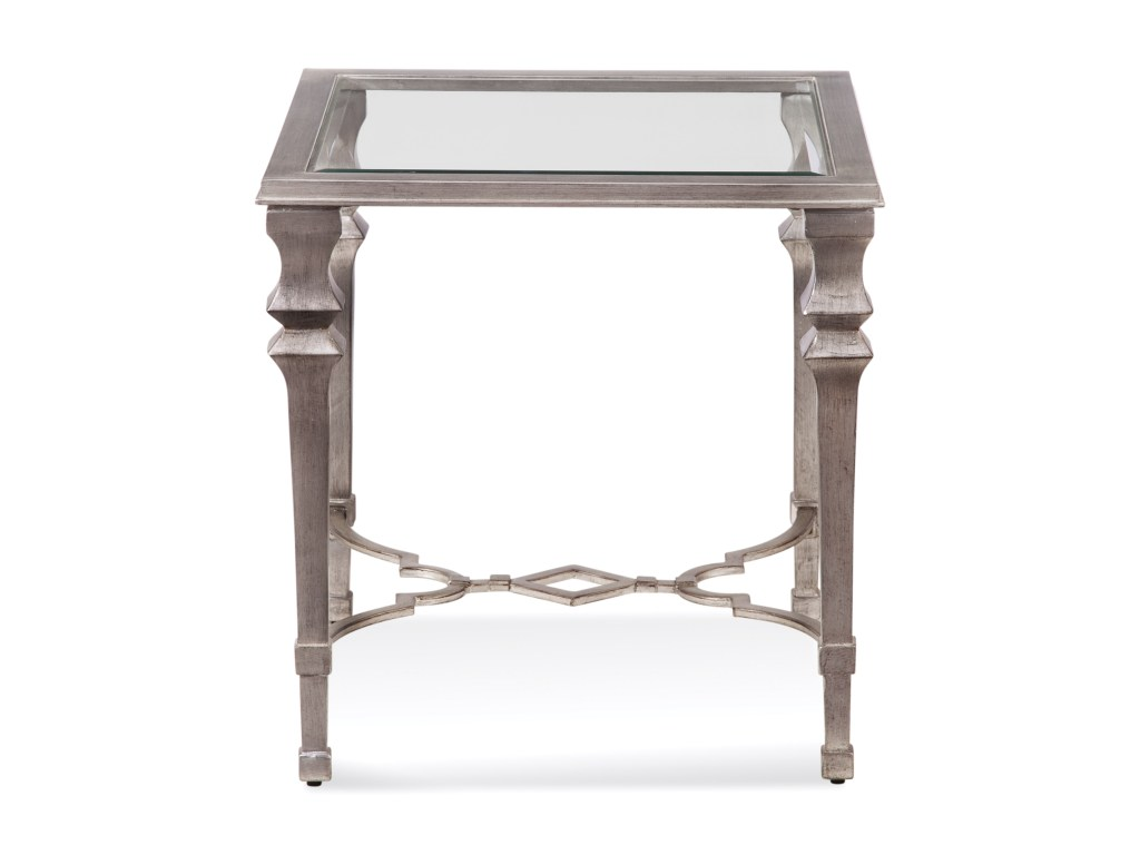 bassett mirror hollywood glam sylvia square end table products color metal accent glamsylvia farm chairs cream linen tablecloth bathroom wall clock target toddler bedding dining