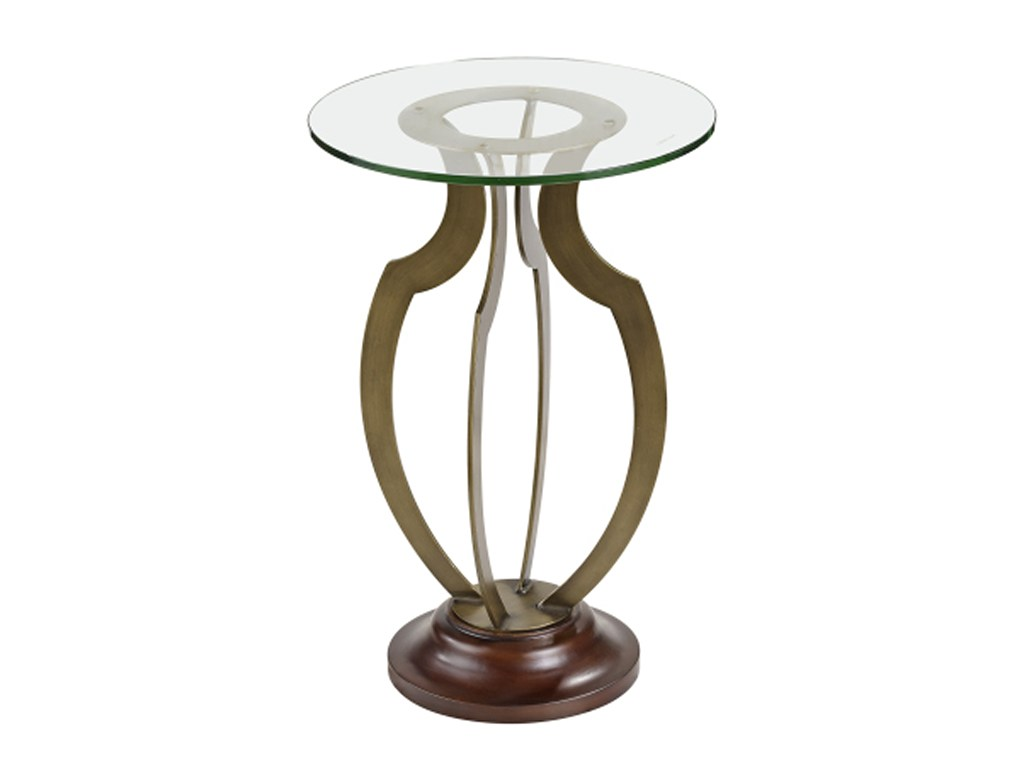 bassett mirror thoroughly modern krier round accent table products color pedestal black and silver nest tables blues clues notebook outdoor patio clearance gray coffee furniture