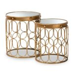 baxton studio amina antique gold stackable accent table set piece end tables nesting living room pool umbrellas bunnings nautical bathroom sconces ikea coffee and best nightstands 150x150