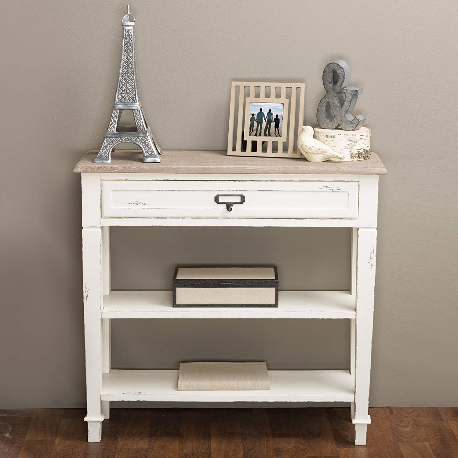 baxton studio dauphine traditional french drawer accent console table with drawers white kitchen dining large garden furniture cover lotus led lights sage green color target round